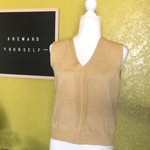 St. John Cable Knit Sleeveless Vest Size Small